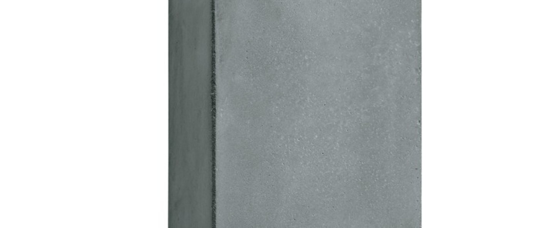 Applique murale d exterieur brique v gris led l12cm h20cm lucifero s normal