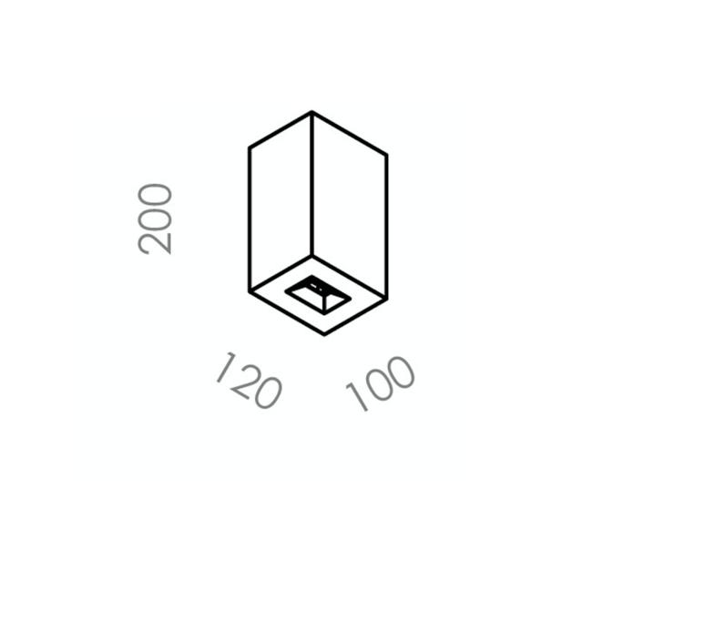 Brique v  applique murale d exterieur outdoor wall light  lucifero s ic1101 830  design signed 60875 product