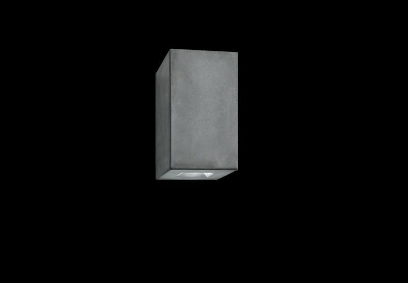 Outdoor wall light brique v grey led l12cm h20cm luciferos