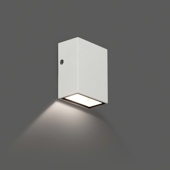 Applique murale d exterieur canon blanc led l6cm h8 5cm faro normal