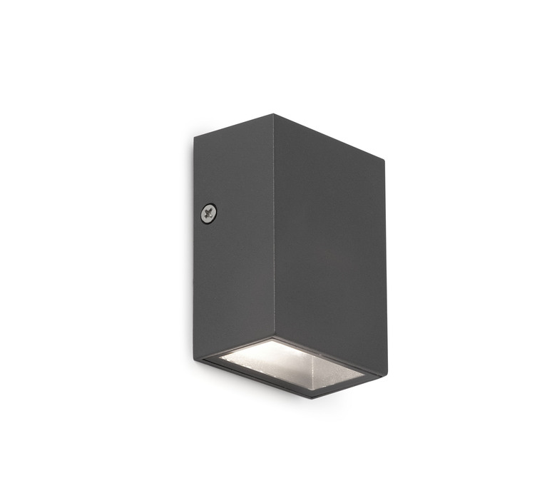 applique murale d 39 ext rieur canon gris led l6cm h8 5cm ip44 120 faro luminaires nedgis. Black Bedroom Furniture Sets. Home Design Ideas