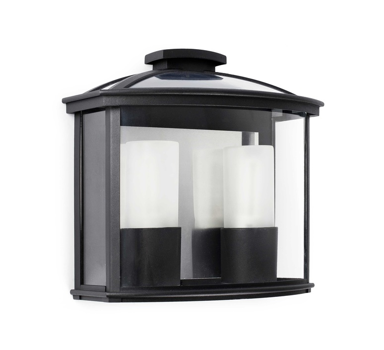 applique murale d 39 ext rieur ceres noir l32cm faro luminaires nedgis. Black Bedroom Furniture Sets. Home Design Ideas