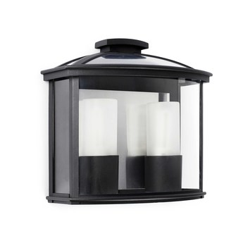 Applique murale d exterieur ceres noir l32cm faro normal