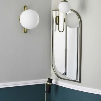 Applique murale d exterieur cime 2 laiton blanc ip44 l20cm h30cm eno studio normal