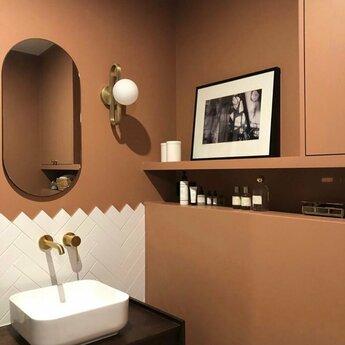Applique murale d exterieur cime laiton blanc ip44 l12cm h30cm eno studio normal