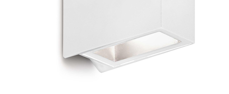 Applique murale d exterieur crata blanc led o4cm h12 5cm faro normal