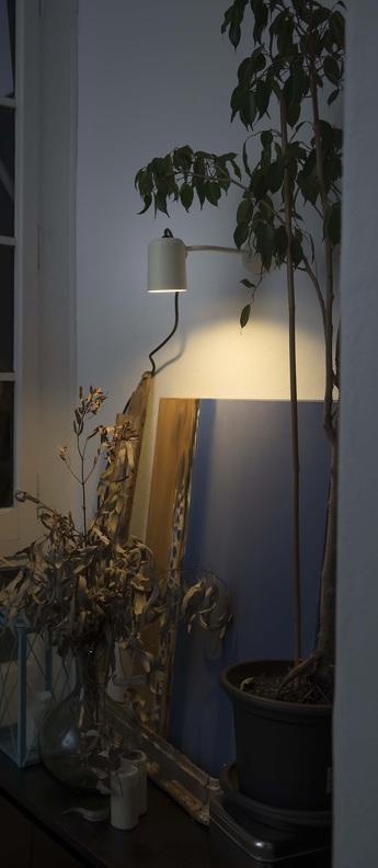 Applique murale d exterieur flow beige l12cm h19cm faro normal