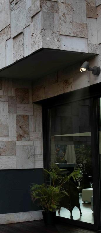 Applique murale d exterieur foc 1 anthracite led 3000k 800lm 36 l21 1cm h13cm faro normal