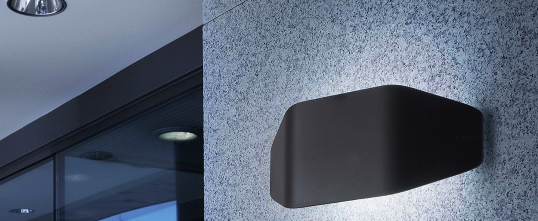 Outdoor wall light future ip44 dark grey l31 5cm h13 for Applique murale exterieur amazon