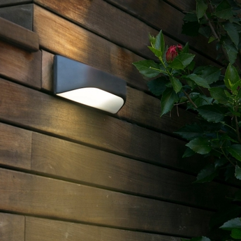 Outdoor wall light future ip44 dark grey l31 5cm h13 for Applique murale exterieur rectangulaire