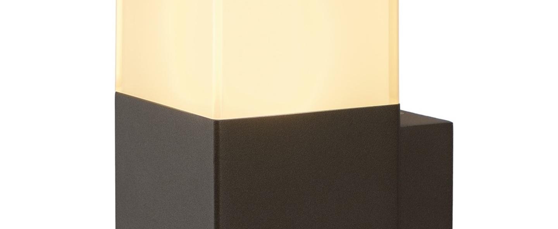 Applique murale d exterieur grafit anthracite et blanc ip44 l12cm h17cm slv normal