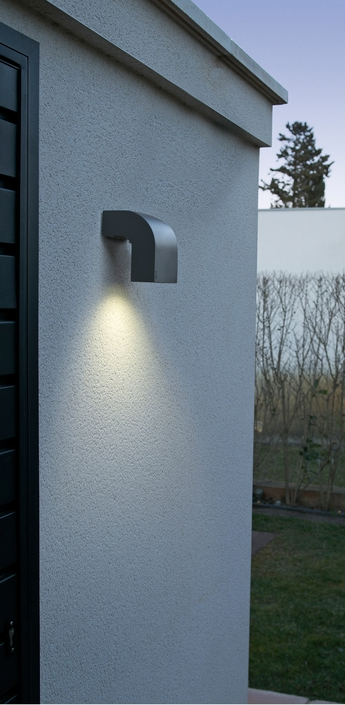 Applique murale d exterieur klamp gris h13cm faro normal
