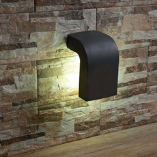 Outdoor wall light klamp grey h20cm faro nedgis for Applique murale exterieur amazon