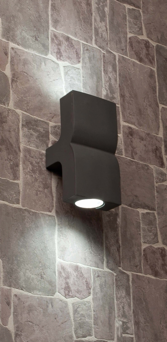 Applique murale d exterieur klamp gris h22 5cm faro normal
