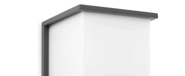Applique murale d exterieur kubick gris fonce l16 5cm h16 5cm faro normal