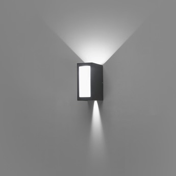 Applique murale d exterieur log noir et blanc led o9cm h17cm faro normal