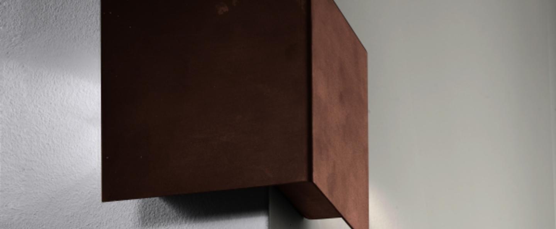 Applique murale d exterieur manine 270 o bi emissione orizzontale marron led l12cm h12cm lucifero s normal