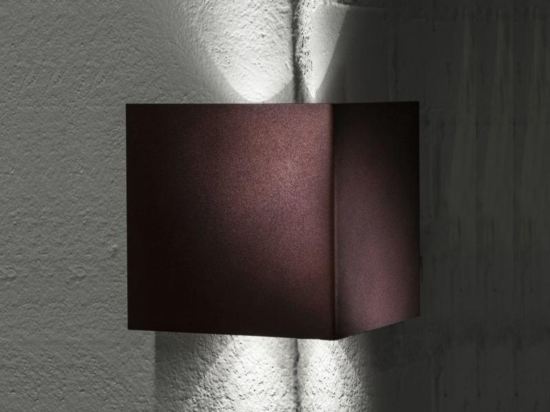Outdoor wall light manine 270 v biemissione verticale brown led