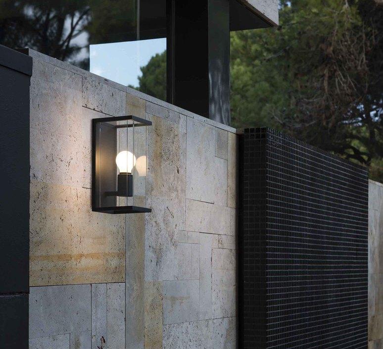 applique murale d 39 ext rieur nala gris fonc l14cm h29cm faro luminaires nedgis. Black Bedroom Furniture Sets. Home Design Ideas