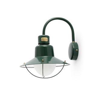 Applique murale d exterieur newport vert h34 6cm faro normal