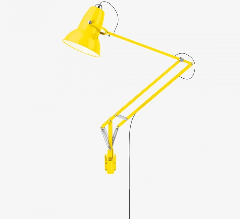 Applique murale d 39 ext rieur original 1227 giant jaune - Luminaire industriel la giant collection par anglepoise ...