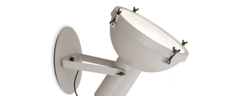 Applique murale d exterieur plafonnier projecteur 365 blanc o37cm h38cm ip54 nemo lighting normal
