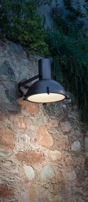 Applique murale d exterieur plafonnier projecteur 365 moka o37cm h38cm ip54 nemo lighting normal