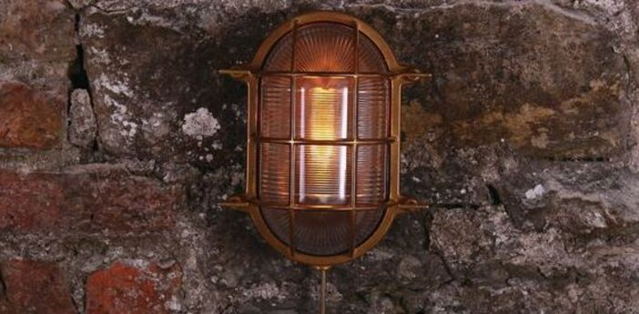 Applique murale d exterieur ross marine nautical laiton ip54 l26cm h26cm mullan lighting normal