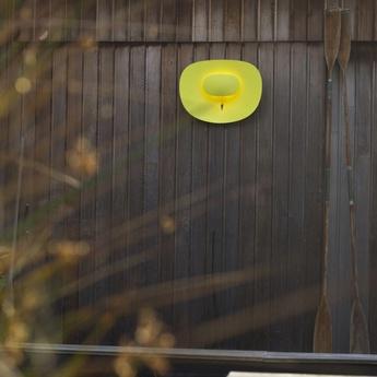 Applique murale d exterieur selene led horizontale jaune h50cm l70cm artuce normal