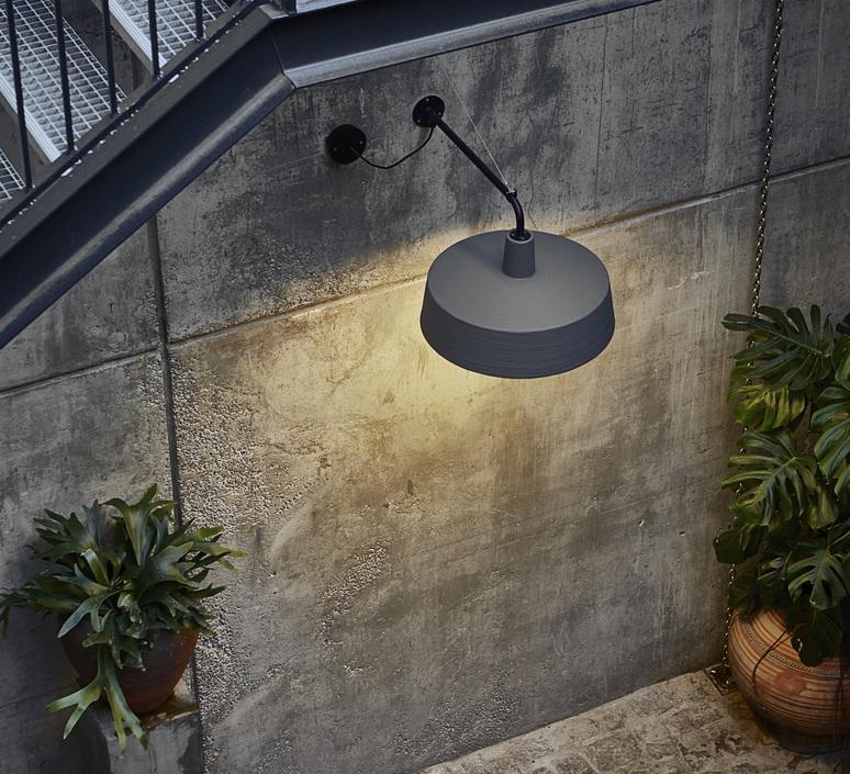 Outdoor wall light Soho A grey 57cm Marset Nedgis