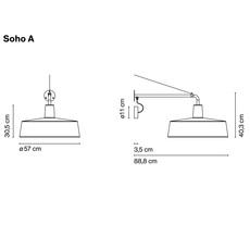 Soho a joan gaspar marset a631 152 luminaire lighting design signed 20615 thumb