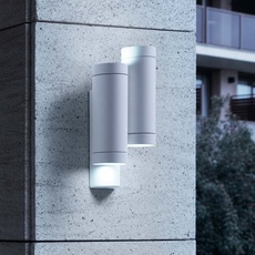 Outdoor wall light steps white h19cm faro nedgis for Applique murale exterieur rectangulaire
