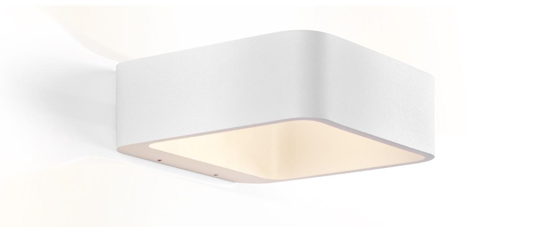 Applique murale d exterieur tape 1 0 blanc ip65 o18cm h6cm wever ducre normal