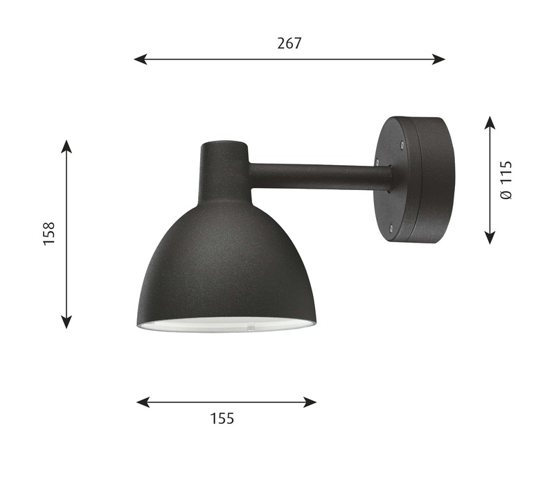 Toldbod 155 arne jacobsen applique murale d exterieur outdoor wall light  louis poulsen 5743145515  design signed nedgis 81932 product