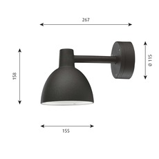 Toldbod 155 arne jacobsen applique murale d exterieur outdoor wall light  louis poulsen 5743145515  design signed nedgis 81932 thumb