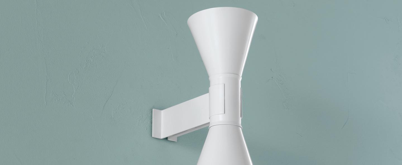 Applique murale de marseille blanc l17cm h40cm nemo lighting normal