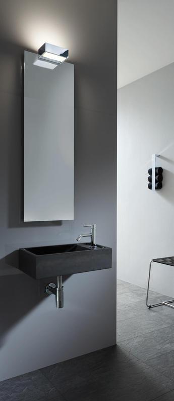 Applique murale de salle de bain box 1 25 n chrome led l25cm h5cm decor walther normal
