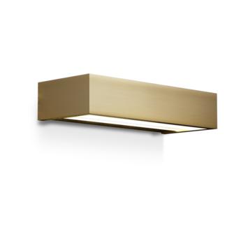 Wall Light Bathroom Box 25 N Gold Led L25cm H5cm Ip44 Decor