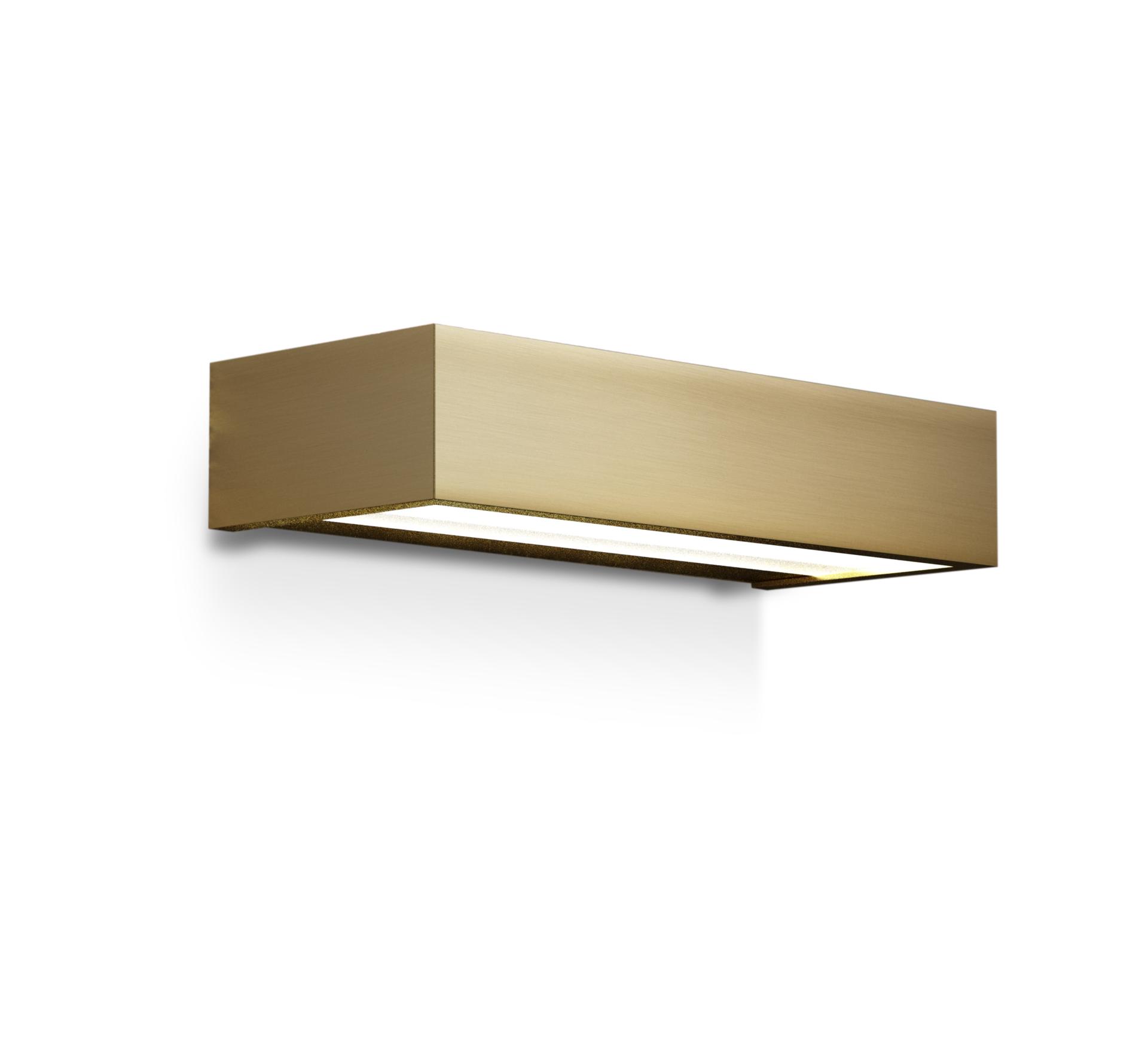 Wall Light Bathroom Box 25 N Gold Led L25cm H5cm Ip44