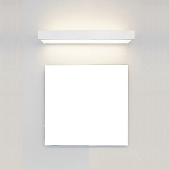 Applique murale de salle de bain box 40 n blanc led l15cm h5cm decor walther normal