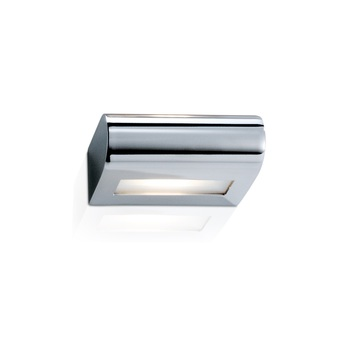 Applique murale de salle de bain curve 15 chrome led l15cm h5cm decor walther normal