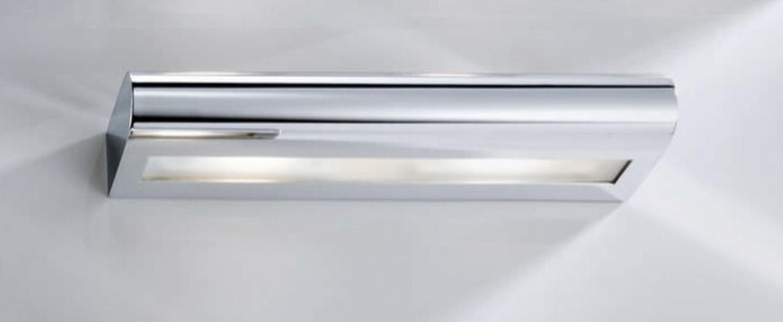 Applique murale de salle de bain curve 40 chrome led l40cm h5cm decor walther normal