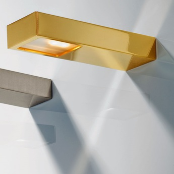 Applique murale de salle de bain flat or led o5cm h16 2cm decor walther normal
