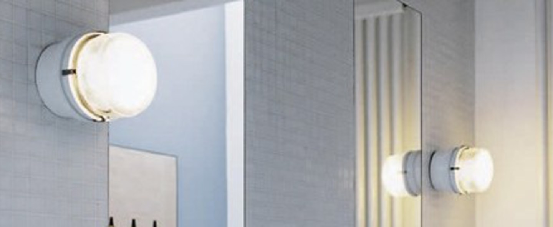 Applique murale de salle de bain fresnel blanc led 3000k 550lm o12cm h10cm oluce normal