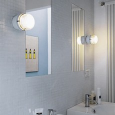 Fresnel joe colombo applique murale de salle de bain wall light bathroom  oluce 1148 blanc  design signed nedgis 67802 thumb