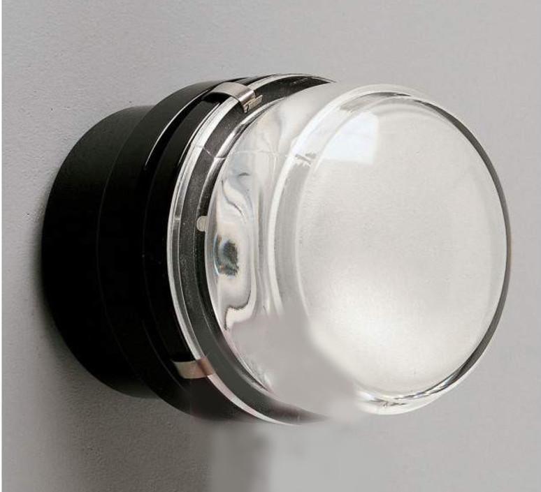Fresnel joe colombo applique murale de salle de bain wall light bathroom  oluce 1148 noir  design signed nedgis 67806 product