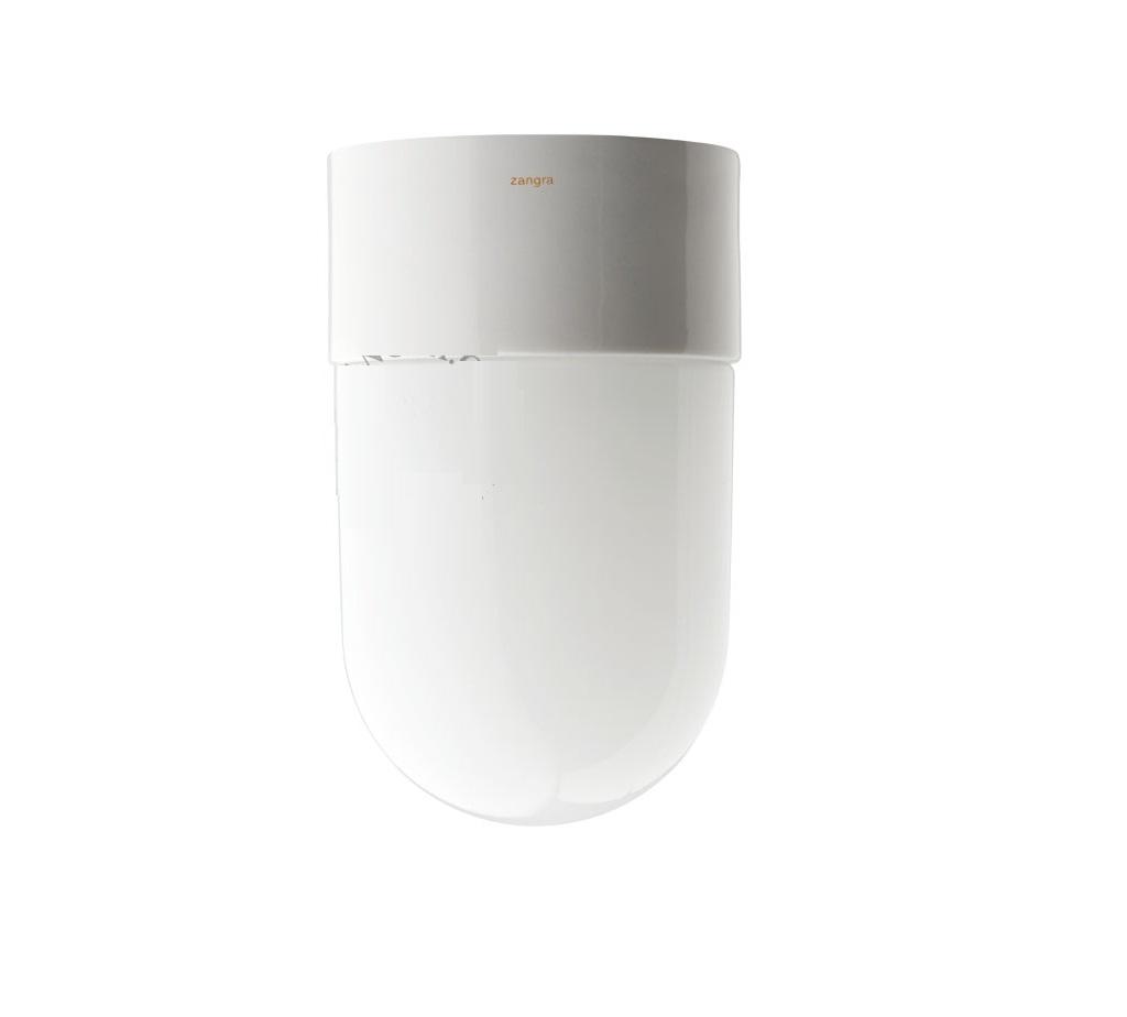 applique de salle de bain, ip54, glass 18, blanc, Ø10cm - zangra