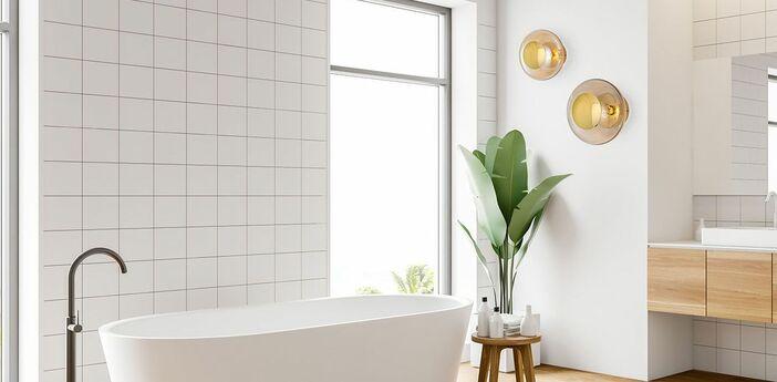 Applique murale de salle de bain horizon or ip44 o21cm h16 5cm ebb and flow normal