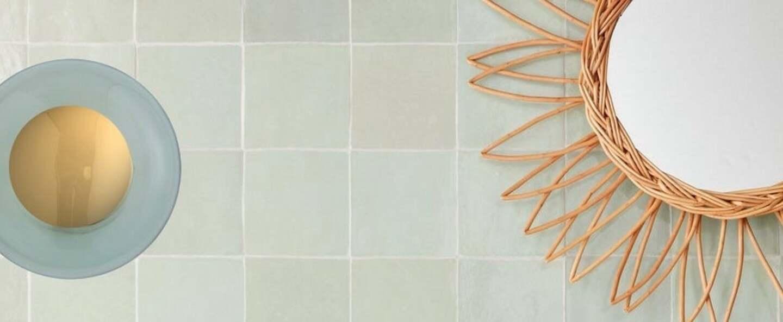 Applique murale de salle de bain horizon vert foret ip44 o21cm h16 5cm ebb and flow normal