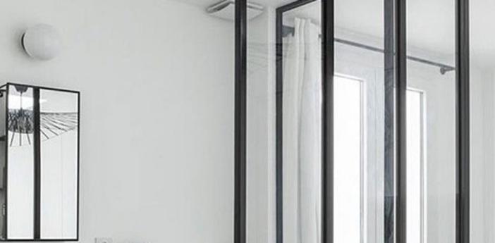 Applique murale de salle de bain lampe en verre souffle blanc ip65 o40cm h40cm zangra normal